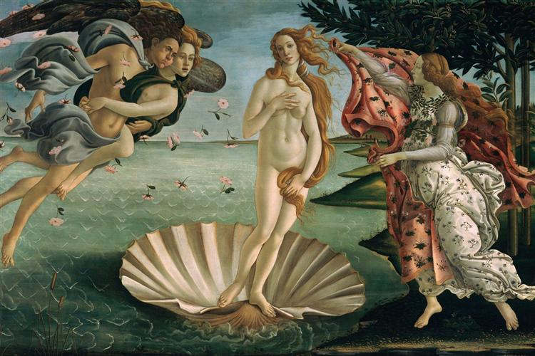 The Birth of Venus, 1483 - 1485 - Sandro Botticelli