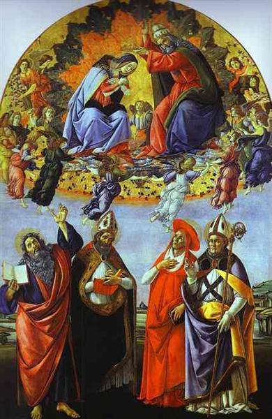 The Coronation of the Virgin (Altarpiece of St. Mark), c.1480 - Sandro Botticelli