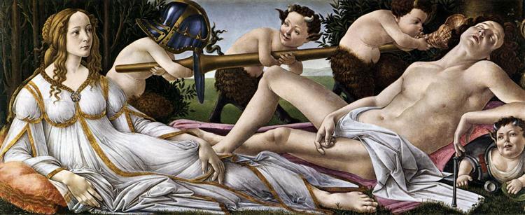 Vénus et Mars, 1483 - Sandro Botticelli