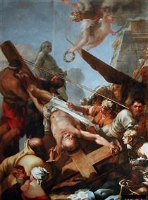 Le crucifiement de Saint Pierre - Sébastien Bourdon