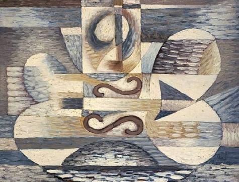 The Violin's Reflection, 1945 - Сергей Шаршун