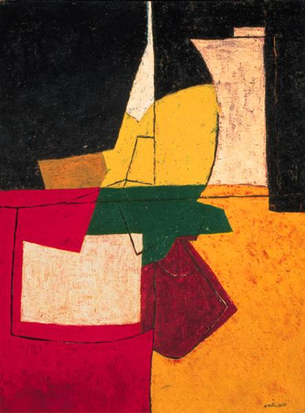 Composition abstraite aux traits, 1951 - Serge Poliakoff