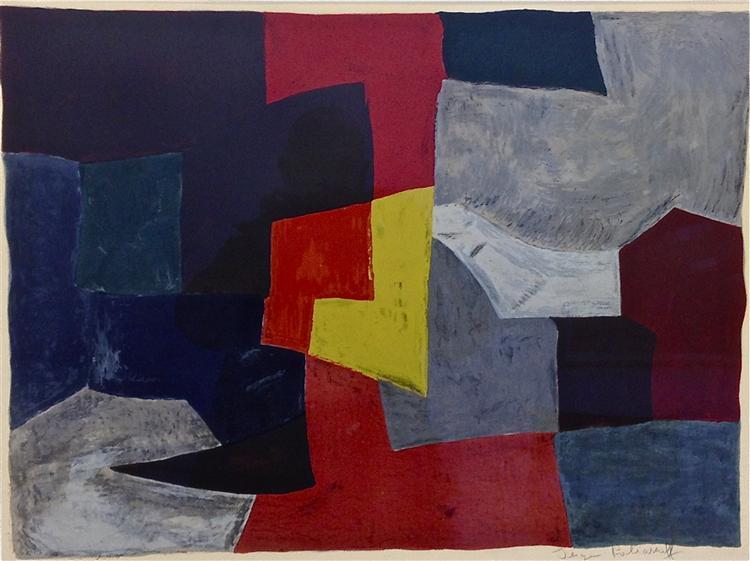 Composition grise, rouge et jaune, 1960 - Serge Poliakoff
