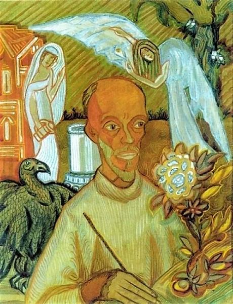 Портрет Н. И. Кульбина. Шарж., 1914 - Сергей Судейкин