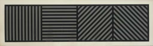 Bands of Lines One Inch Wide in Four Directions in Black and Gray, 1985 - Sol LeWitt