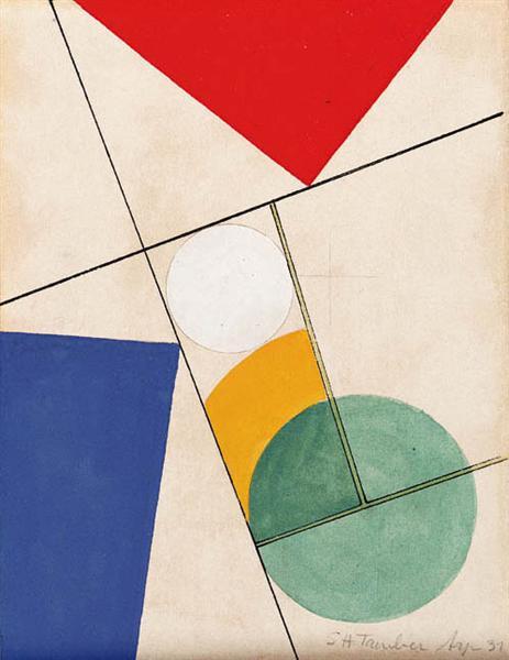 Composition - Sophie Taeuber-Arp