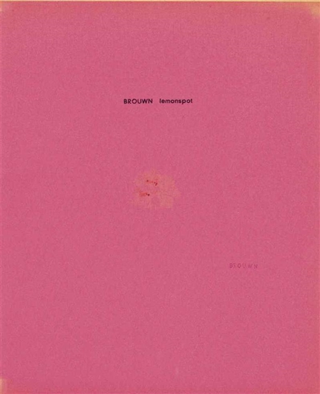 Brouwn Lemonspot, 1963