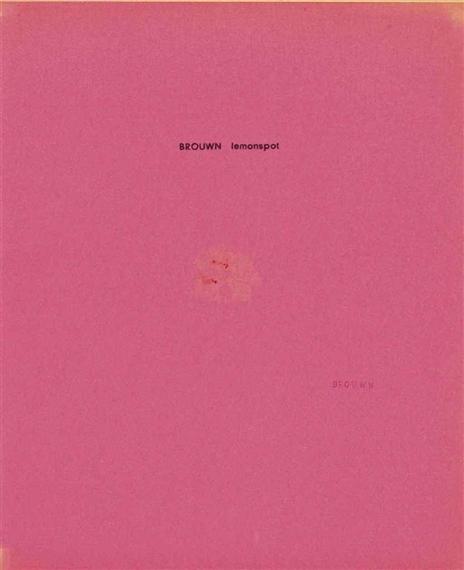 Brouwn Lemonspot - Stanley Brouwn