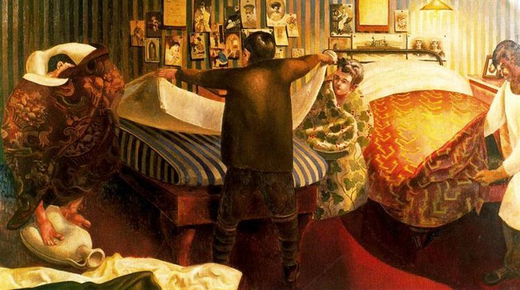Bed making - Stanley Spencer