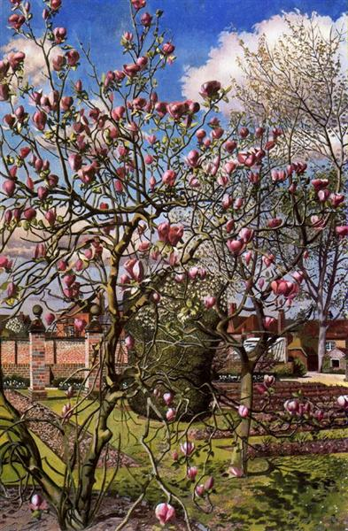 Landscape With Magnolia 1938 Stanley Spencer Wikiart Org