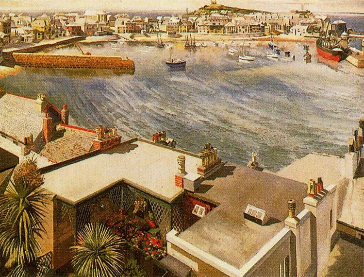 The harbour - St. Ives - Stanley Spencer