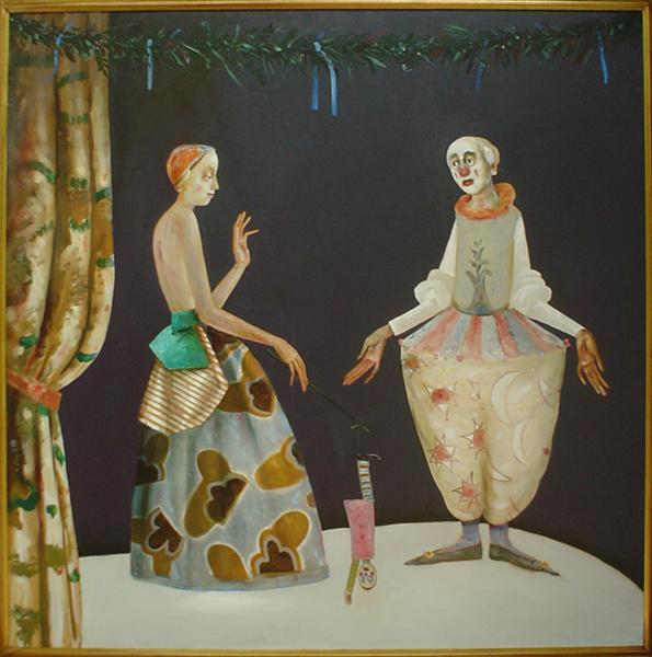 Puppeteer and White Clown, 2004 - Stefan Caltia