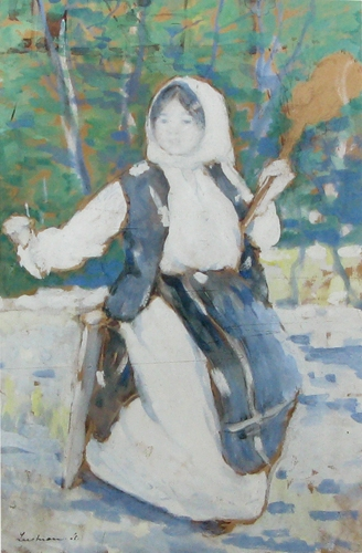 Peasant girl - Stefan Luchian