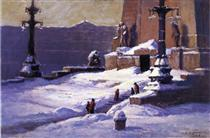 Monument in the Snow - T. C. Steele