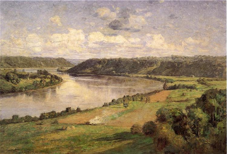 The Ohio river from the College Campus, Honover - T. C. Steele