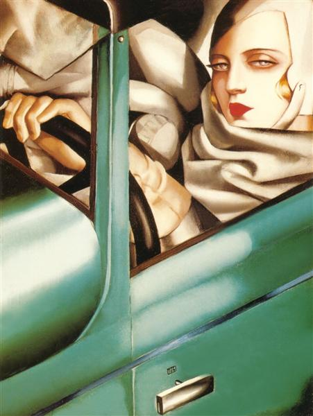 My Portrait (Self-Portrait in the Green Bugatti), 1929 - Tamara de Lempicka