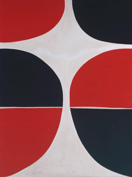 June, Red and Black, 1965 - Terry Frost
