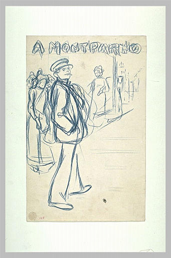 A Montparno  study - Theophile Steinlen