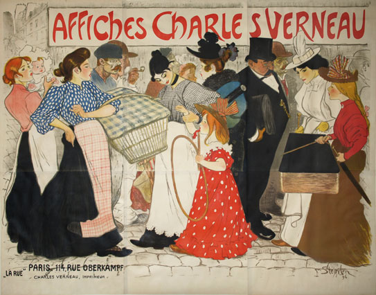 Poster for Charles Verneau - Theophile Steinlen