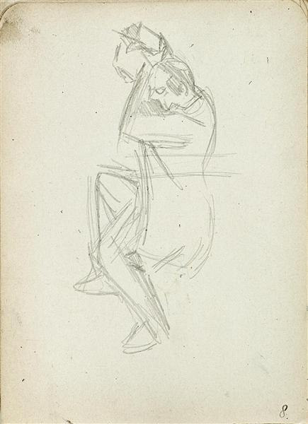 Dancing man from sketchbook 60, 1931 - Theo van Doesburg