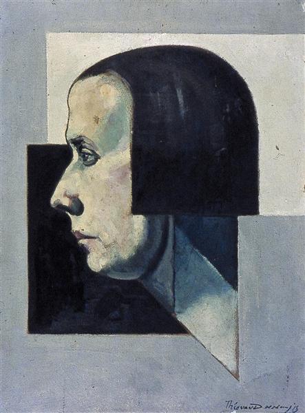 Portrait of Pétro, c.1922 - Theo van Doesburg - WikiArt.org