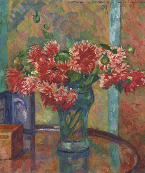 Dahlias (to Mme Madeleine E.R Bonnet), 1912 - Theo van Rysselberghe
