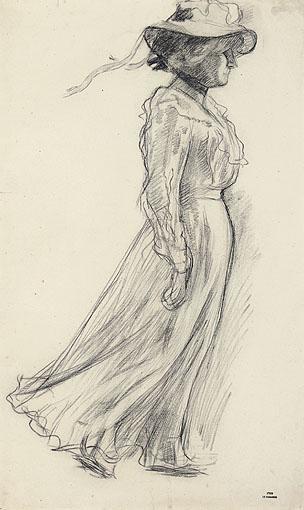 Etude pour La Promenade, c.1901 - Theo van Rysselberghe