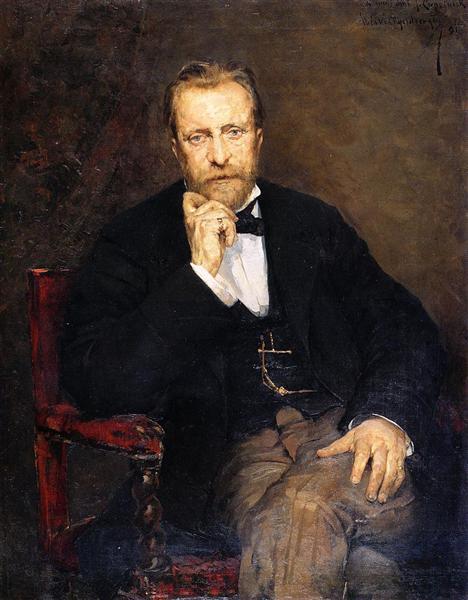 Portrait of Jean Cepeinick, 1881 - Theo van Rysselberghe
