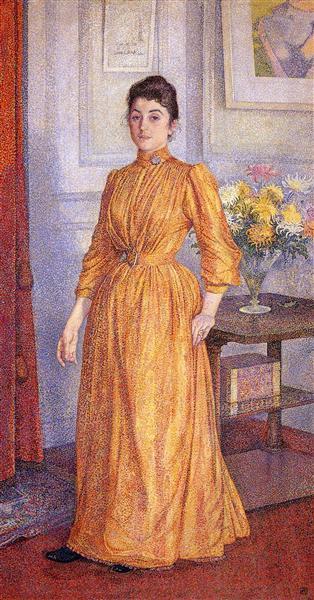 Portrait of Madame van Rysselberghe, 1891 - Theo van Rysselberghe