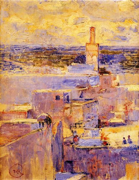 View of Meknes, Morocco, c.1888 - Theo van Rysselberghe