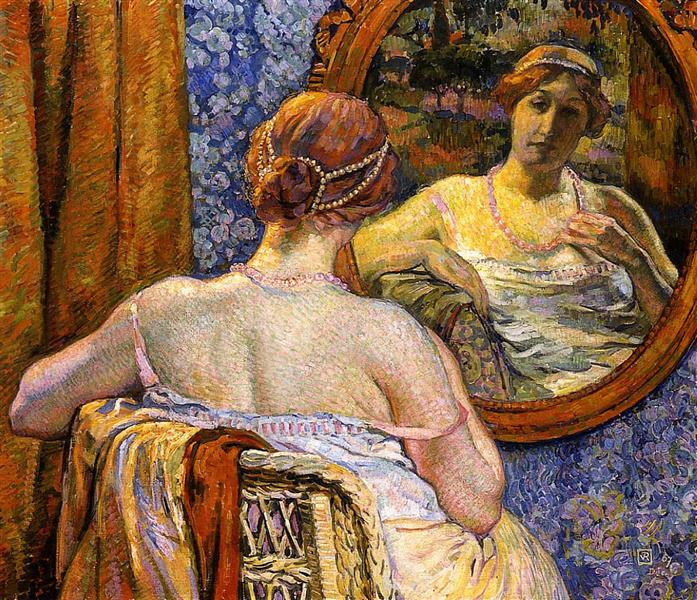 Woman at a Mirror, 1907 - Theo van Rysselberghe
