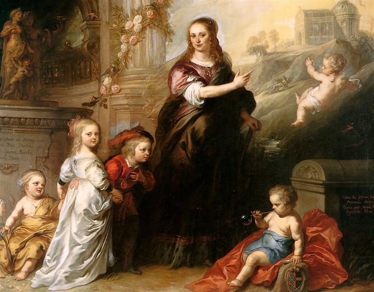 Josina Copes van Westrum and Her Children - Theodoor van Thulden