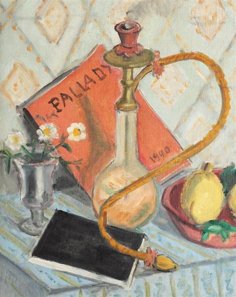 Natură moartă cu narghilea și gutui - Theodor Pallady