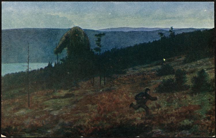 Askeladden og trollet (på flya), 1910 - Theodor Severin Kittelsen