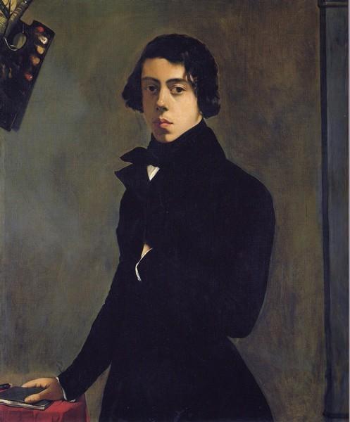 Self-Portrait in a Redingote, 1835 - Theodore Chasseriau