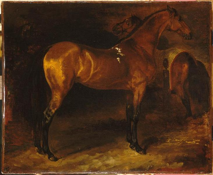 Spanish horse in a stable - Théodore Géricault