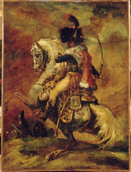 Study for Officer of Chasseurs of the Imperial Guard - Théodore Géricault