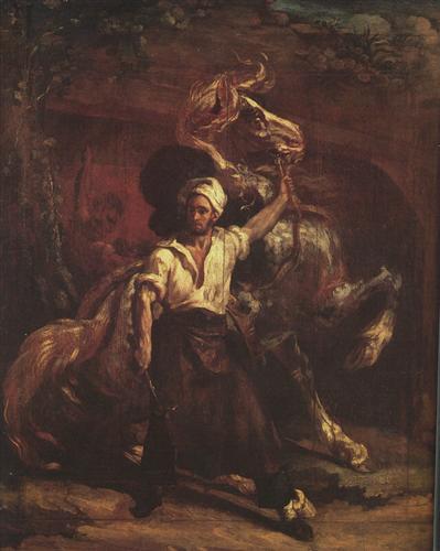 The Blacksmith's Signboard - Теодор Жерико