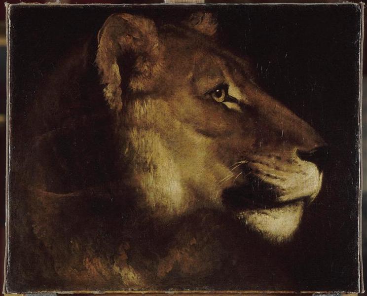 The head of lion, 1821 - Théodore Géricault