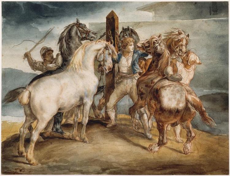 TheHorse Market, 1817 - Théodore Géricault