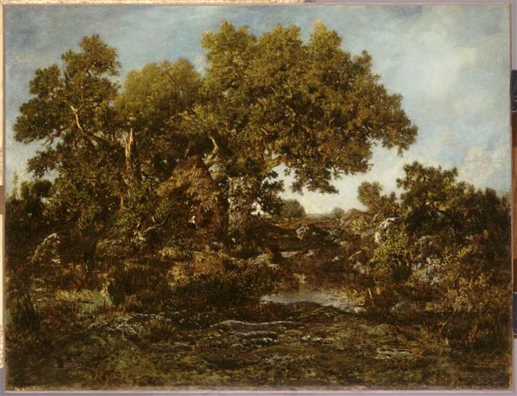 Thecollier's hut - Théodore Rousseau