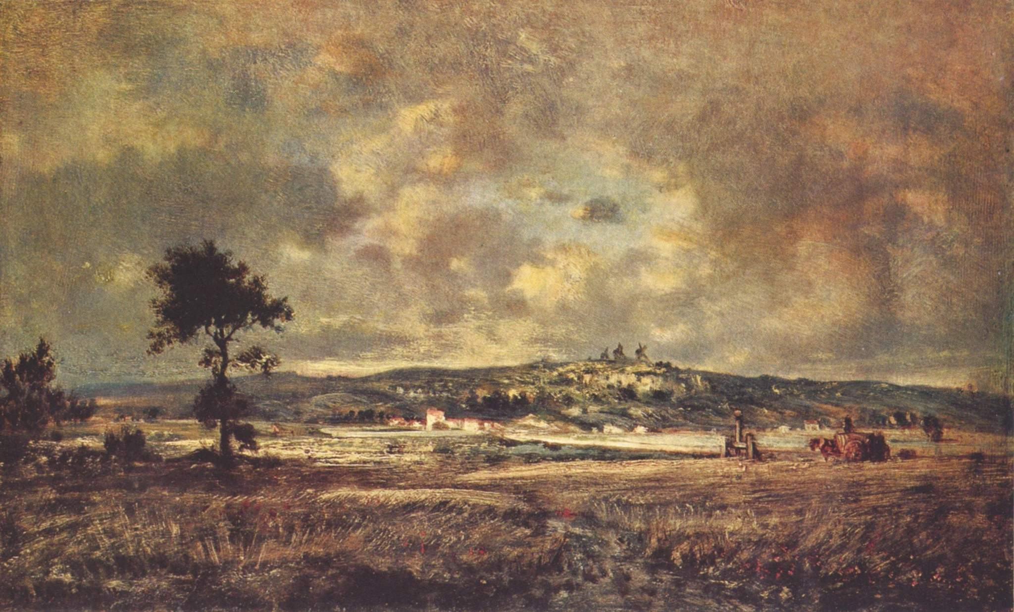 View of the plain of Montmartre X effect of storm, 1845 ... Theodore Rousseau