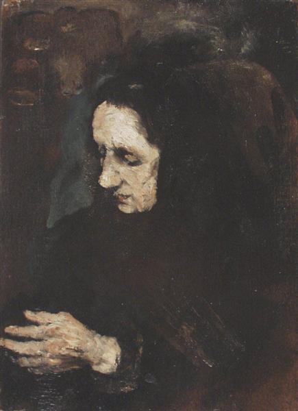 Portrait de sa Soeur - Theodule Ribot