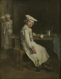 The Little Cooks - Theodule Ribot
