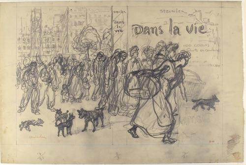 Dans La Vie - book cover drawing, 1901 - Théophile Alexandre Steinlen