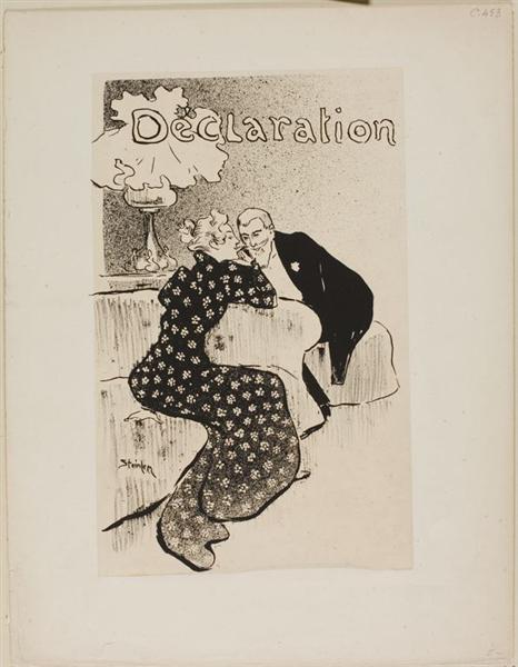 Declaration, 1894 - Theophile Steinlen