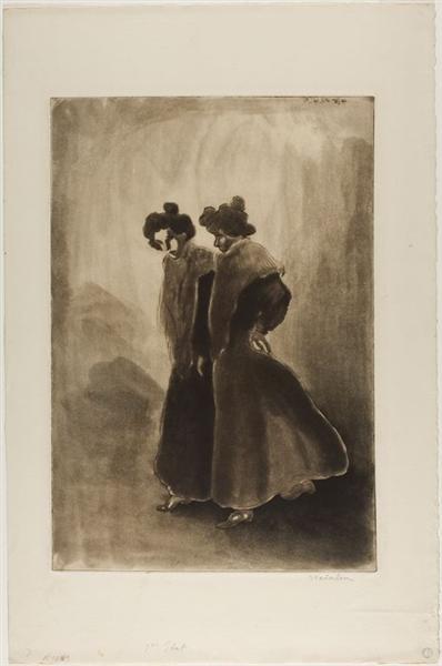 Deux Femmes, 1902 - Theophile Steinlen