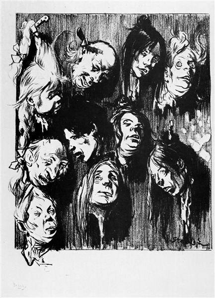 Dix Assassinats Pour Un Sou, 1897 - Theophile Steinlen
