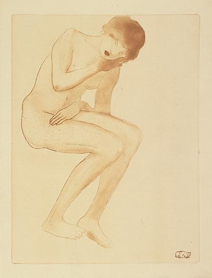 Femme Se Coiffant - Theophile Steinlen