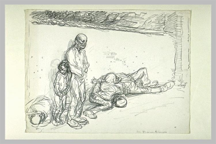 Francs-tireurs -study-3288 - Theophile Steinlen